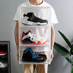 Large Basketball Shoe Box Plastic Box Stackable Drawer Organizer Finishing Box Display Cabinet Shoes Storage Plastic Container