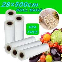 Food Storage saver bags Vacuum Plastic roll custom size Bags For Kitchen Vacuum Sealer to Keep Food Fresh 28X500cm|Vacuum Food Sealers| |  -