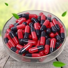 Red Black Gelatin Empty Capsules Hollow Gelatin Capsules Empty Pill Capsule  0#  H55D цена и фото