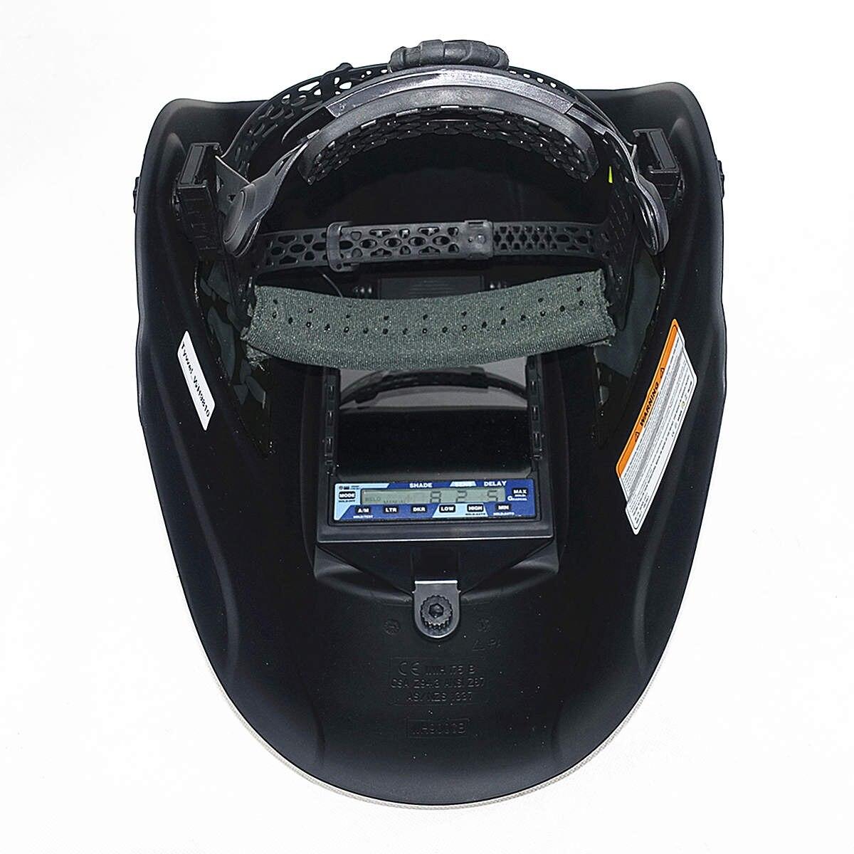 Máscara de soldadura de escurecimento automático 3 vista windows tamanho 100x93mm (3.94x3.66 ) din 4 13 óptico 1111 5 sensores ce capacete de soldagem - 5