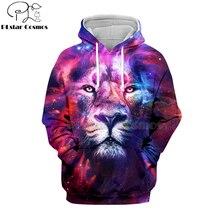 цена на PLstar Cosmos Hot sell casual 3D hoodies/sweatshirts/shirt print the Lion King Simba Men/women's slim long sleeve streetwear-17