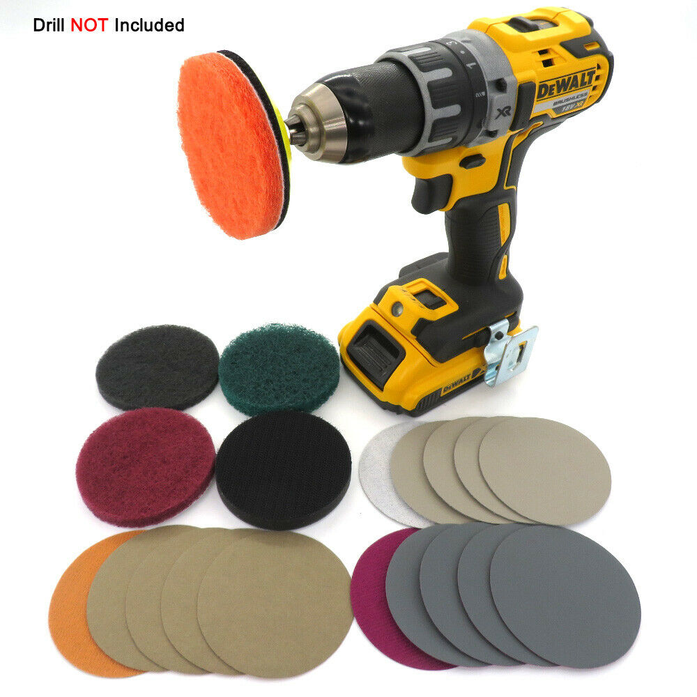 Electric Drill Car Headlight Polishing Scouring Pad Auto Restoration Kit Waterproof Sanding Discs Singal Sponge Pad Car Tools