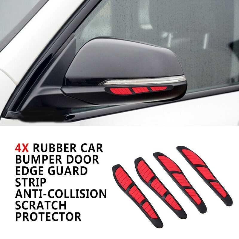 4x Car Door Edge Guard Anti-Scratch Protector Moulding Decor Bumper Strips Grey