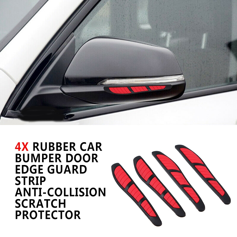 Pcmos Red Blue Yellow Car Door Edge Guard Strip Scratch Protector Anti-collision Trim Mirror Sticker Exterior Accessories New