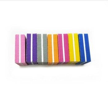 Двухсторонние мини пилки для ногтей, 20 шт./лот, цветные губки для полировки ногтей, шлифовальные полировальные полоски для ногтей, инструменты для маникюра Пилки для ногтей и буферы      АлиЭкспресс