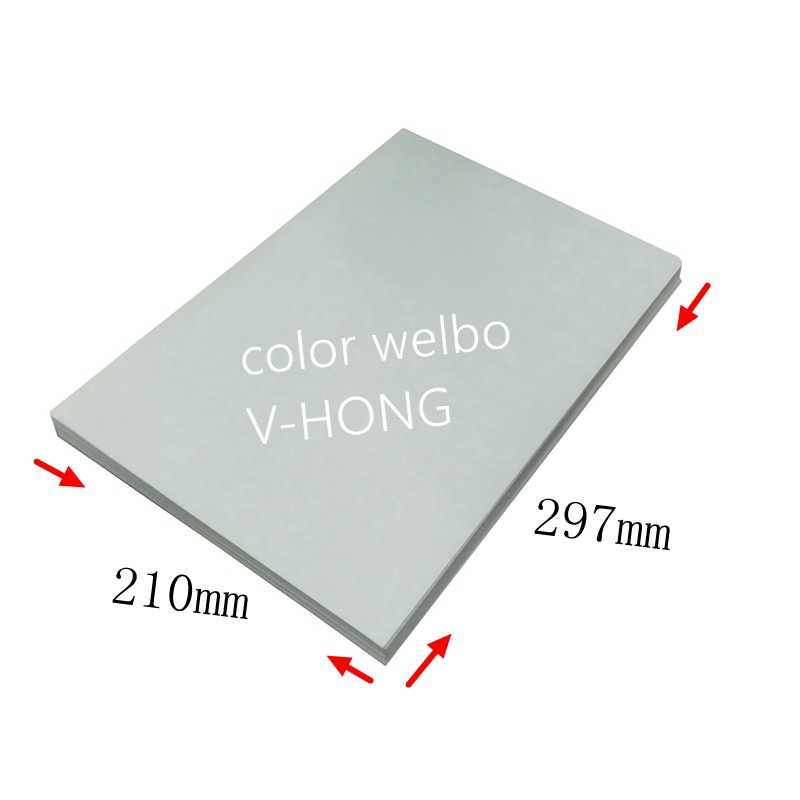 Modal โพลีเอสเตอร์แห้งเร็วระเหิดผ้าผ้าฝ้ายเสื้อยืดแก้ว 8.26x11.7 นิ้วถ้วย A4 กระดาษความร้อนกระดาษ