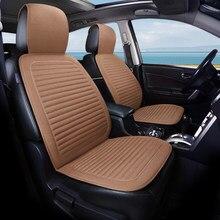 Respirant lin housse de siège de voiture coussin quatre saisons antidérapant housse de siège doux confortable coton coussin de dossier taille universelle