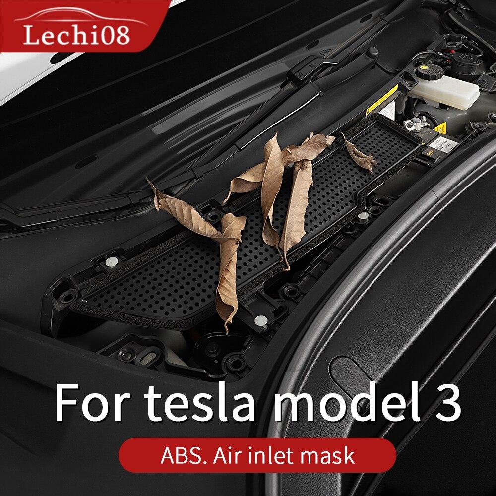Автомобильная крышка на входе воздуха для Tesla Model 3 Аксессуары Воздушный фильтр антиблокирующая Tesla модель три аксессуары крышка Впускного п...