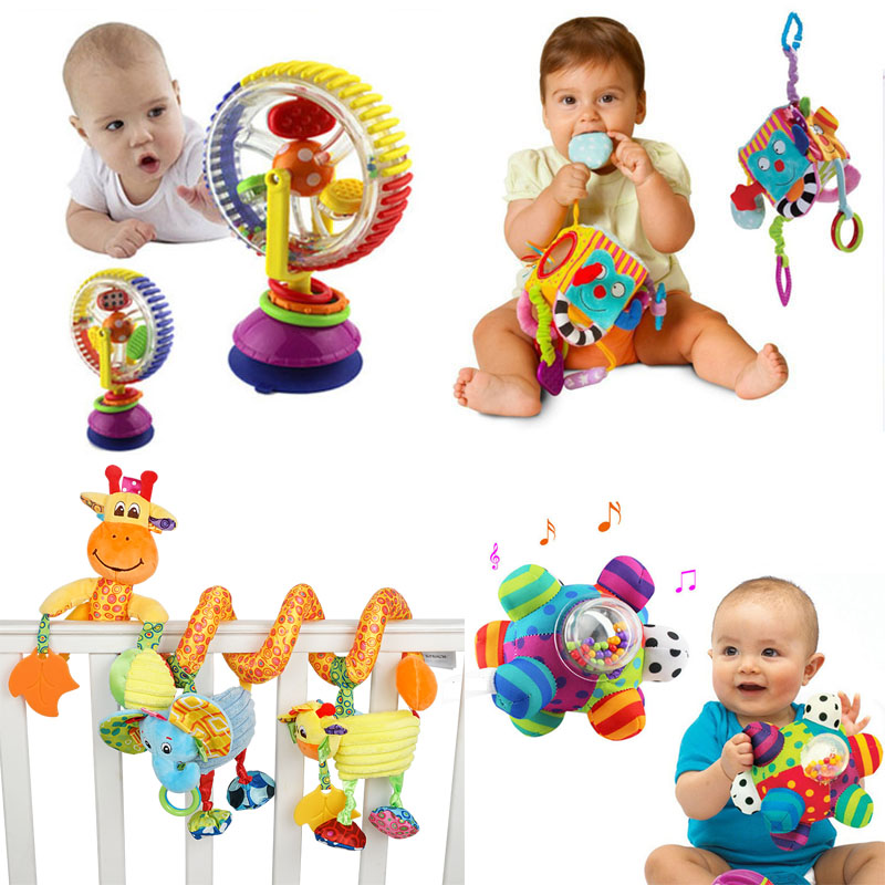 Soft Baby Toys 0-12 Months music Crib Stroller Hanging Spiral kids sensory Educational Toy For newborn babies rattles Bed Bell(China)