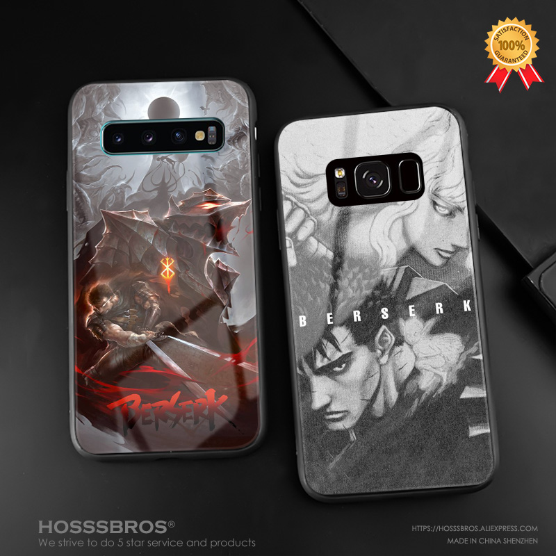 Berserk <font><b>Anime</b></font> Guts Griffith soft silicone glass <font><b>phone</b></font> <font><b>case</b></font> cover shell for <font><b>Samsung</b></font> Galaxy S8 <font><b>S9</b></font> S10e S10 Note 8 9 10 <font><b>Plus</b></font> image