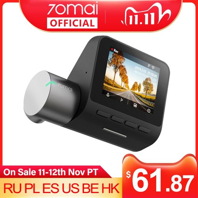 Видеорегистратор 70mai Dash Cam Pro 1944P, видеорегистратор DVR 70MAI Pro с функцией 24 часового наблюдения и управлением голосом, режим парковки, видеорегистратор 70 mai с Wi Fi , угол обзора 140 градусов, ADAS