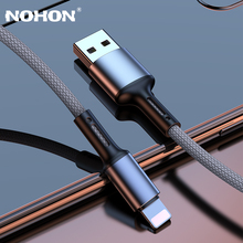 20cm 1m 2m 3m kabel USB ładowarka dla iPhone 11 12 Pro Xs Max X XR 8 7 6 6s Plus SE iPad szybki przewód ładowania dane pochodzenia długi drut tanie tanio Nohon LIGHTNING HK (pochodzenie) NYLON USB A Złącze ze stopu Blue Black Red Silver High Quality 3A Quick Charge Cables Mobile Accessory