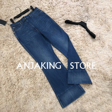 Women's new jeans trousers casual flared pants mid-waist ret
