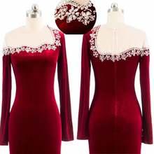 Винтажные Бордовые Платья для подружки невесты 2020 с блестками