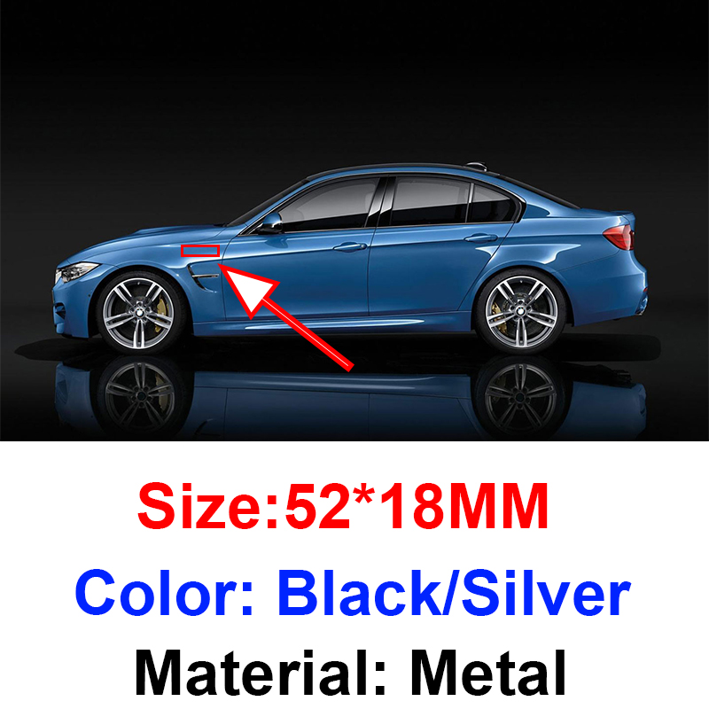 2 шт., автомобильные наклейки эмблемы на боковые крылья для Bmw M3 E90 E60 F10 F30 E46 G20 X1 X3 X4 X5 E70 F20 E39 E92|Наклейки на автомобиль|   | АлиЭкспресс