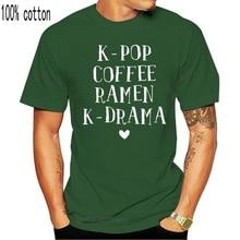 Men t-shirt K Drama Shirt Kpop Coffee Ramen K pop Merchandise Gift tshirt Women t shirt