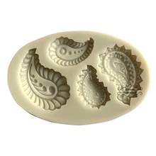 Feather Silicone mold fondant mold cake decorating tools chocolate gumpaste mold(China)