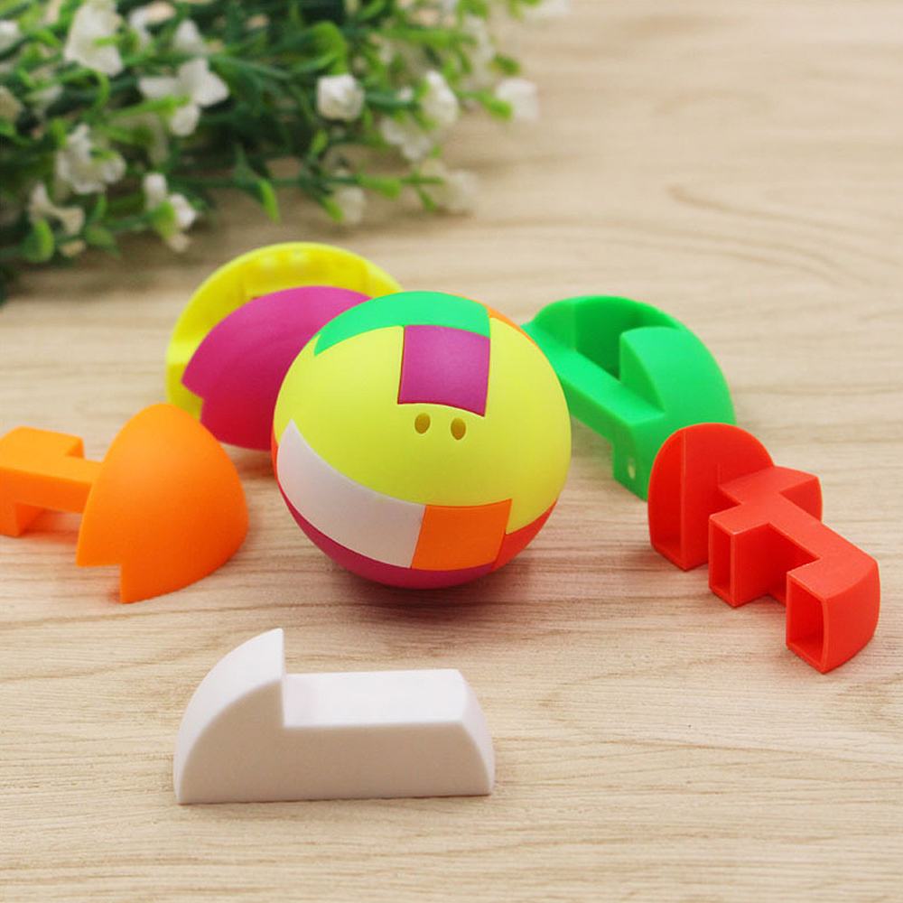 Children Puzzle Assembling Ball Education Toy Gift Plastic Mini Multi-color Ball Kids Puzzle Combination Building Block Toys