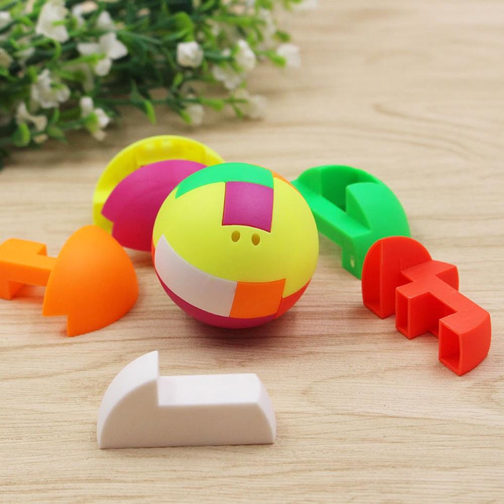 Children Puzzle Assembling Ball Education Toy Gift Plastic Mini Multi-color Ball Kids Puzzle Combination Building Block Toys