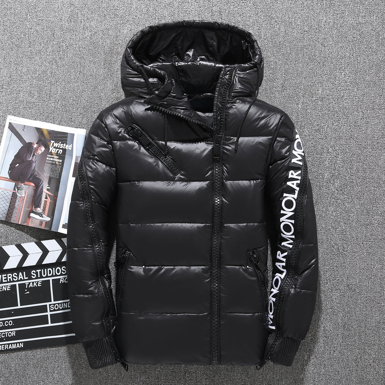 New Style Men Outdoor Down Jacket Sports Short Slim Fit Thick Youth Hooded Down Jacket