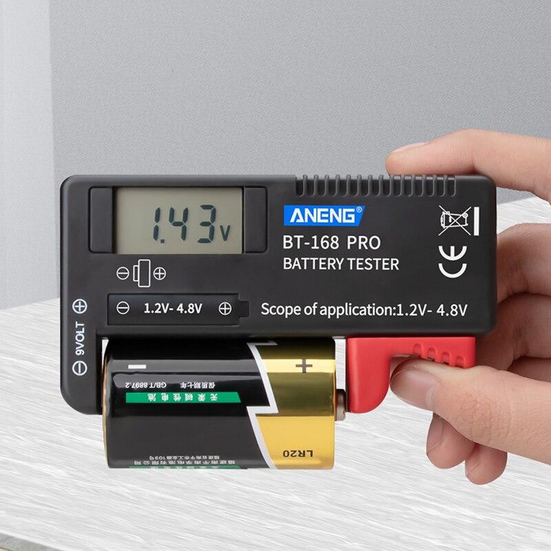ANENG цифровой тестер емкости батареи AA AAA C D 9V Индикатор диагностического инструмента батареи Универсальный тестер ЖК-дисплей проверки