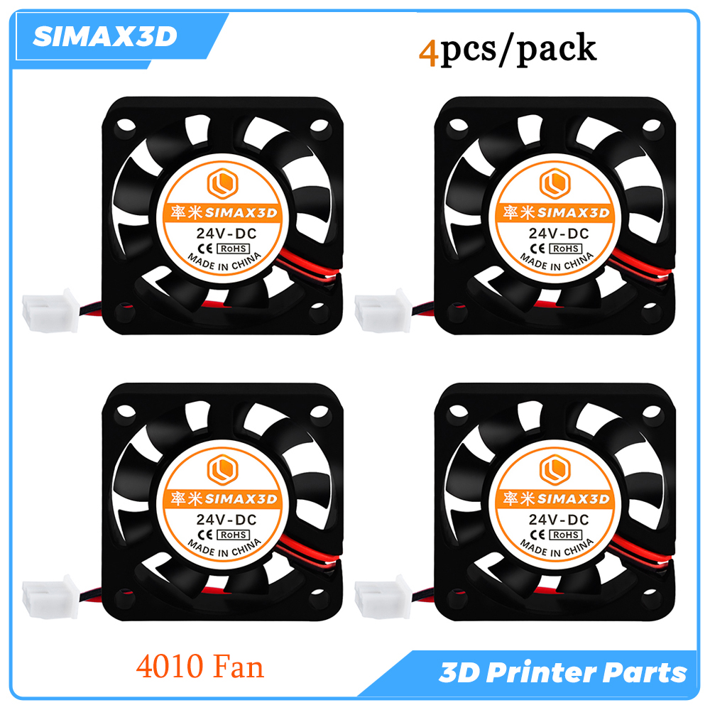 3D Printer Parts Cooling Fan 4010 24V 4pcs Brushless Blower Fan Ender 3 Pro kits CR10 V5 V6 hotend M