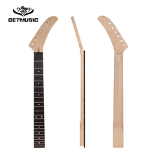 22 Frets Banana Maple Guitar Neck Rosewood Fingerboard White Dot Inlay  for ST Strat Guitar Replacement  Guitar Parts disado 21 frets inlay dots maple electric bass guitar neck rosewood fingerboard wholesale guitar accessories musical instruments