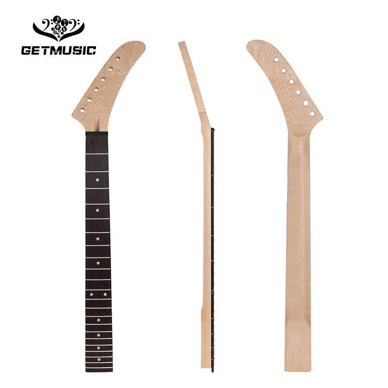 22 frettes banane érable guitare cou palissandre touche blanc Dot incrustation pour ST Strat guitare remplacement guitare pièces