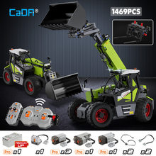Cada 1469pcs City High-Tech Remote Control Engineering Vehicle DIY Model Building Blocks RC Truck Car Bricks Toys for Children