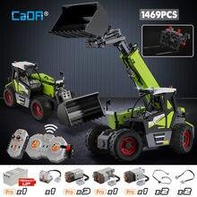 Cada 1469 sztuk miasto techniczne zdalne sterowanie urządzenie inżynieryjne DIY Model klocki zdalnie sterowana ciężarówka cegły samochodowe zabawki dla dzieci