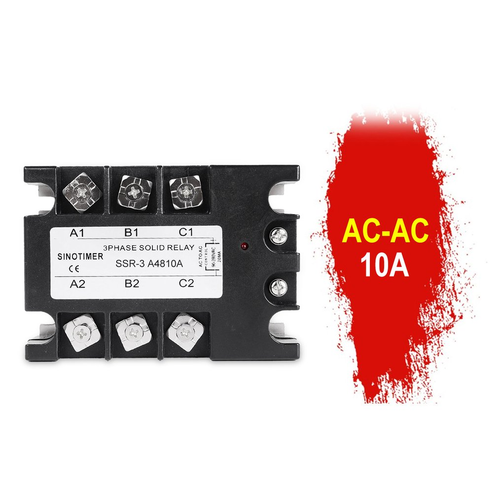 New Solid State Relay DC-AC SSR-3D4810A 25A 40A 60A 80A 100A 3-32VDC TO 30-480VAC Load Current Three Phase For Temperature Contr