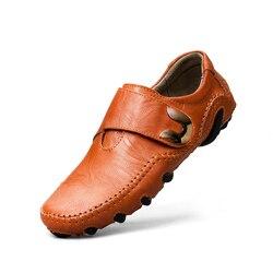 Homens verão Sapatos Casuais Respirável Sapatos de Couro Genuíno Mocassins Homens Mocassins Macios Flats Condução Sapatos De Luxo de Alta Qualidade