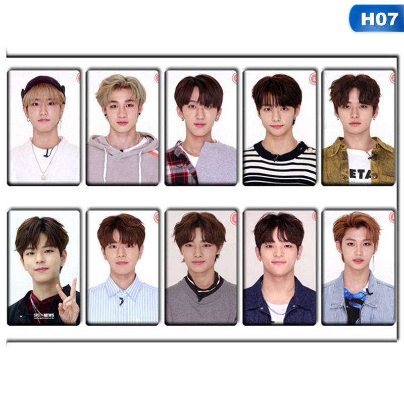 10pcs/Set KPOP Stray Kids Lomo Cards  Photo Card Stickers Photocard Poster Gift Stationery Set