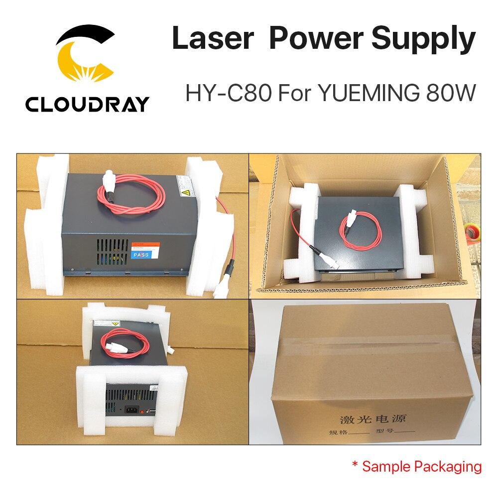 Cloudray HY-C80 CO2 lézer tápegység 80W YUEMING gravírozó / - Famegmunkáló gépek alkatrészei - Fénykép 6