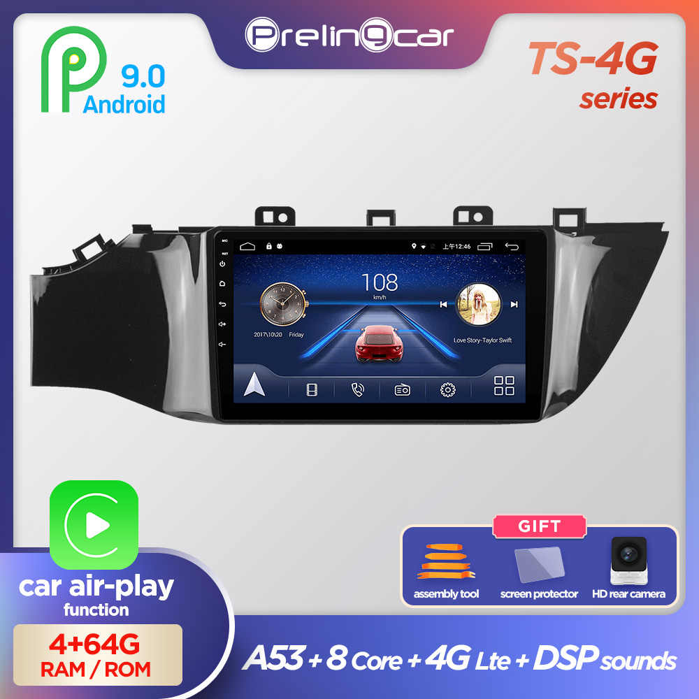 Prelingcar Android 9.0 NO DVD 2 Din Car Radio 멀티미디어 비디오 플레이어 네비게이션 GPS For KIA RIO 4 2016 2017 2018 2019 Octa-Core