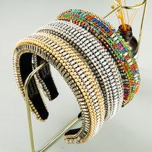 Модные бархатные ободки в стиле барокко с широкими полями Роскошные