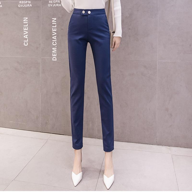 JUJULAND Pencil Casual Pants Women Autumn Spring Pantalon Femme Cuffed Office Lady Suit Pants Women Trousers 5471