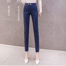 JUJULAND Pencil Casual Pants Women Autumn Spring Pantalon Femme Cuffed Office Lady Suit Trousers 5471
