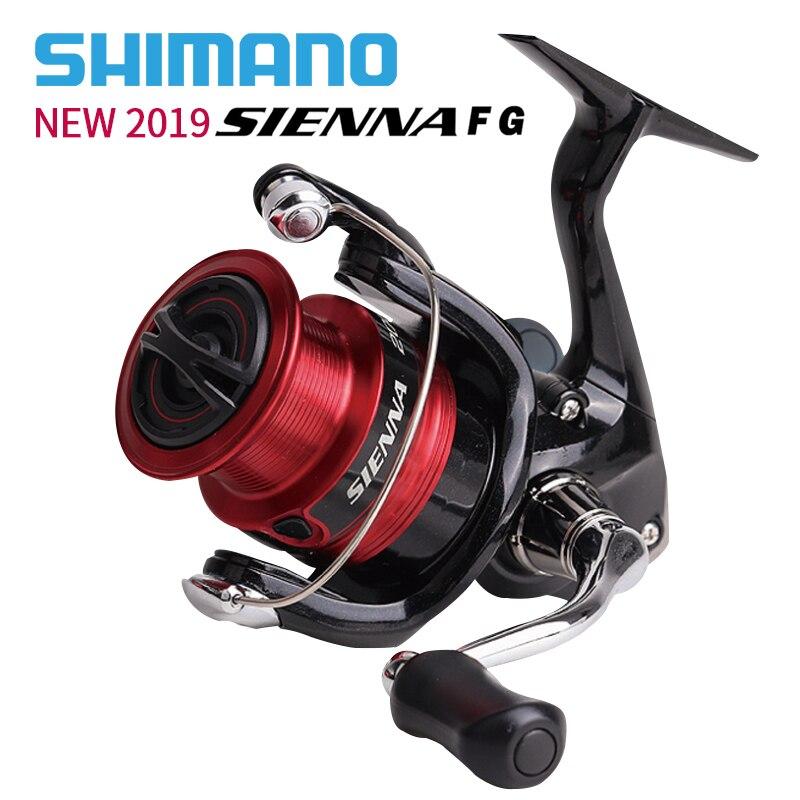 NEW2019 시마노 SIENNA 낚시 스피닝 릴 500/1000/2000/2500/2500HG/C3000/4000 최대 드래그 4 kg/8.5 kg 3 + 1BB 릴 낚시 휠