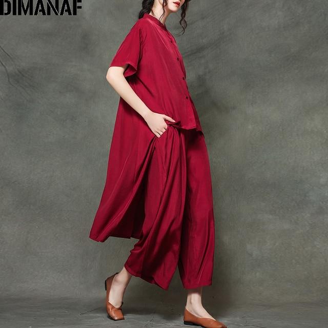 Plus Size Sets Suit Casual Elegance  Tops  Loose Long Pants  4