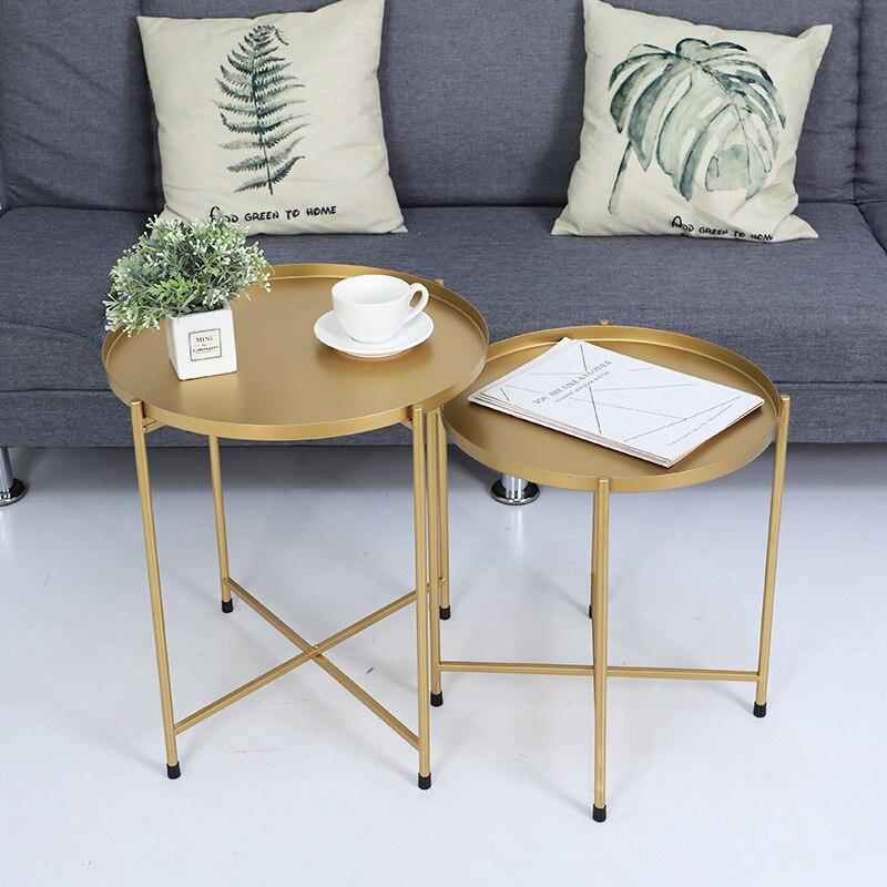 Nordic bedhead recebe pequena mesa de chá o lado do sofá desmontagem mesa dobrável sala de estar móveis mesa de café