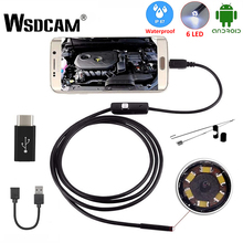 Endoscope Camera Camcorders Micro-Usb Wsdcam Mini Waterproof Android LED 6 7MM for Loptop