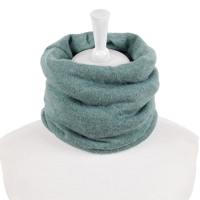 edition men and women lovers fall and winter fashion warm knitting pure color lap joker knitting scarf set of students