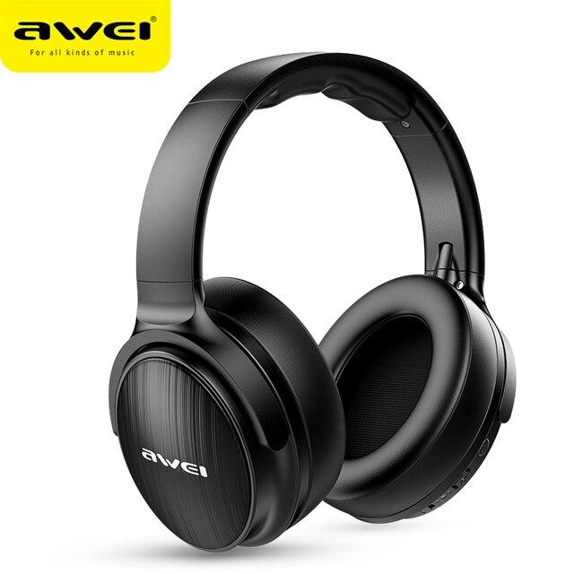 AWEI A780BL kablosuz kulaklık Bluetooth 5.0 kulaklık mikrofon ile derin bas oyun kulaklık desteği TF kart iPhone Xiaomi için