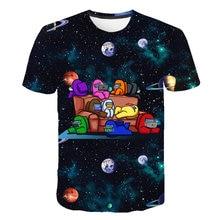 Xinyou entre nós mann camiseta 3d impressão moletom manga longa roupas de bebê para adolescentes da criança menino bebe criança topos verão 2021