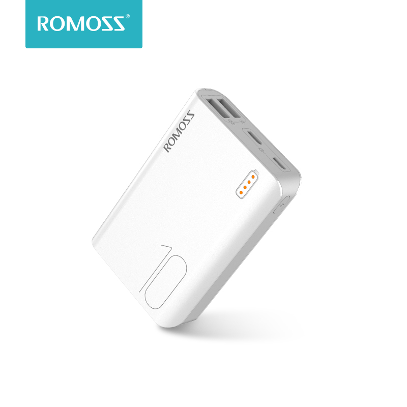 Romoss Sense4 Mini Power Bank 10000mAh Fast Charge Powerbank 10000mAh Portable External Battery Charger For IPhone Xiaomi Huawei
