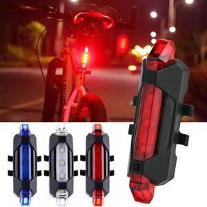 Велосипедный задний светильник с USB зарядкой, велосипедный задний фонарь, светодиодный светильник, водонепроницаемая лампа для езды на гор...