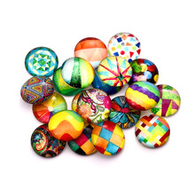 Round Glass Cabochons DIY Jewelry Making Flat Back Cabochon For Earrings Pendant Bracelet Base Settings 12/20/25mm 20pcs/lot(China)