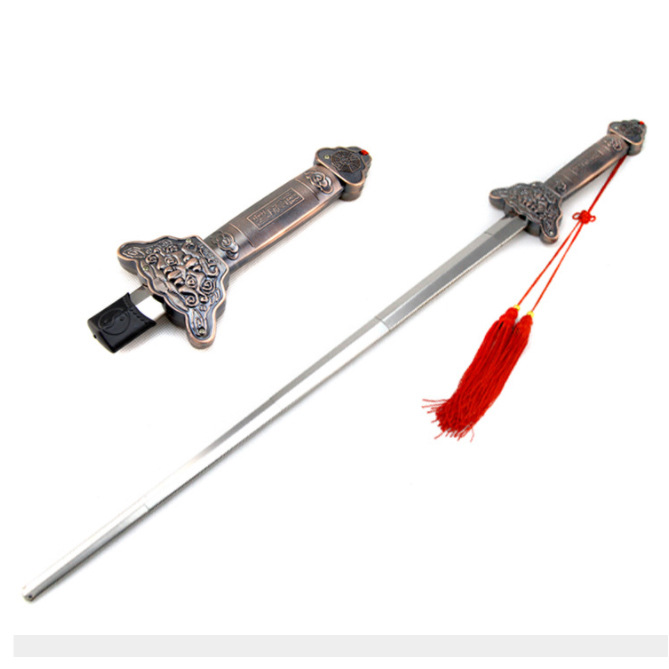 Tai Chi Telescopic Sword Stainless Steel Morning Exercise Performance Tool Outdoor Fitness Supplies Magic Supplies