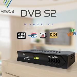 Image 1 - Mais novo dvb s2 hd 1080p receptor de tv por satélite dvb s2 receptor de satélite europa suporte decodificador youtube potência vu biss sintonizador de tv